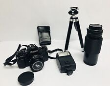 Vintage Canon A-1 Camera Kit - 1980's Olympic Version - With Canon Lens