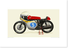 Realistic Artwork Honda 1962 Honda RC171 by Seevert Works