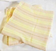 "Ralph Lauren Pillow Cover Cotton Ticking Stripe PAIR, 20"", Pink, Yellow"