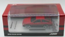 INNO64 Red & Black TOYOTA COROLLA AE86 Levin w/Extra Wheels & Hood Decals 1:64