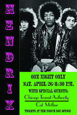 1960's Rock: Jimi Hendrix at Los Angeles Forum Concert Poster 1969