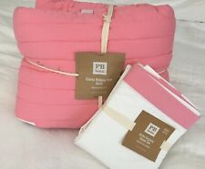 Pottery Barn Girls 'Emma' Ribbon Quilt, Sheets And Shams Full/Queen Pink NWT
