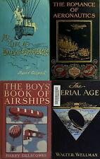 133 OLD BOOKS ON AIRSHIP,AIRPLANE,ZEPPELIN BALLOON & EARLY FLYING MACHINE ON DVD