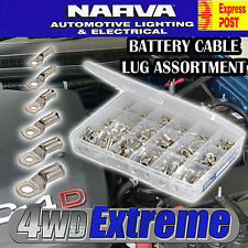 Narva 57110 Battery Cable Lug Lugs Assortment Kit 165 PCE B&S Lead Terminals