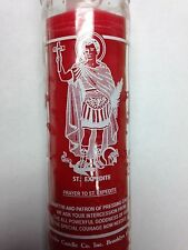 SAINT EXPEDITE 7 DAY UNSCENTED RED CANDLE IN GLASS (SAN EXPEDITO)