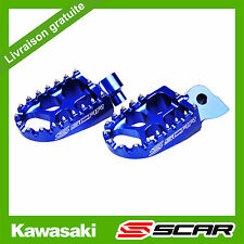 REPOSE CALE PIED EVO KAWASAKI 250 450 KXF KX250F KX450F KX-F BLEU SCAR