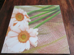 Gerbera Print Wall Art Plaque (Chipboard backing) Mix & Match to other listings