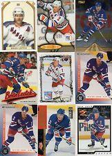 9-brian leetch new york rangers card lot nice mix +1996/97 ultra gold 108