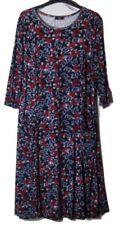 New M&Co Rose Print Side Pocket  Ditsy Jersey Dress - Uk Size 8 - 22