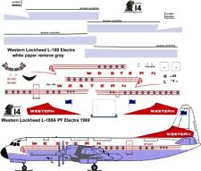 Western combi Lockheed Electra airliner decals for Minicraft 1/144 kit