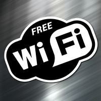 "(1) FREE WIFI Sign Sticker Business Decal Store 3.5""x5"" Window Door Office NEW"