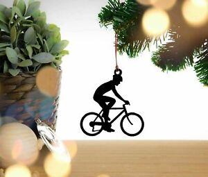 Cyclist Bike Bicycle Christmas Decoration, Hanging Decoration, Tree Decoration