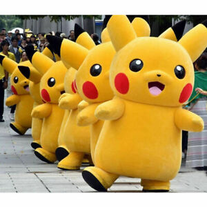 2021 Pikachu Adult Mascot Costume Dress Halloween Birthday Party Cosplay Outfits