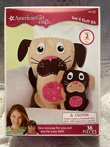 NEW AMERICAN GIRL SEW & STUFF KIT CRAFT PUPPY FOR YOU & 1 FOR DOLL