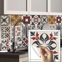 10pcs Vintage Turkey Self-adhesive Bath Kitchen Wall Stair Floor Tile Sticker