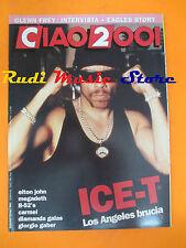 rivista CIAO 2001 32/1992 Ice-T Megadeth Elton John Giorgio Gaber Carmel * No cd