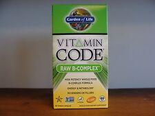 Garden of Life Vitamin Code RAW B-Complex  120 Vegetarian Capsules Gluten FREE
