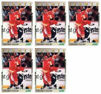 (5) 1991-92 Score Young Superstars Hockey #4 Theo Fleury Card Lot Flames