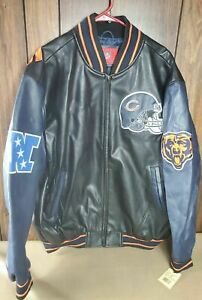 Chicago Bears Leather Jacket New with tags XXL NFL NFC Football