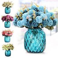 10 Köpfe Seidenblumen Kunst Chrysantheme Kunstblume Künstliche Blumenstrauß M5U4