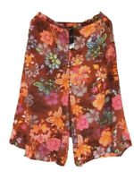 Next Multi Culottes Wide Leg Floral Pattern Size 12 Shorts Skirt New With Tags