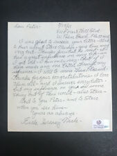 HOF Earle Greasy Neale AUTOGRAPH Hall of Fame COA Reds/Bulldogs/Eagles D.1973