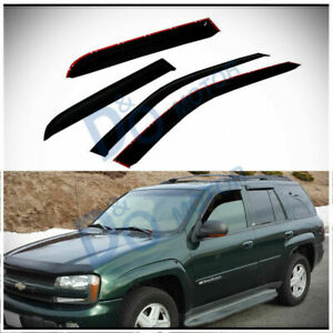 4pcs Smoke Sun/Rain Guard Vent Shade Window Visors Fit 02-09 Trailblazer/Envoy