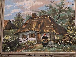 Vintage Seg De Paris Van Gogh La  Chaumiere Tapestry Canvas. Canvas Only New