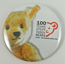 "Steiff Tin Badge ""100 Years Steiff Teddy Bears"" Genuine Collectors badge"