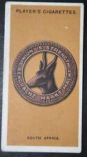 South African Cap Badge  World War 1      Original 1917 Vintage Card  # VGC