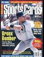 Sports Cards Magazine May 2001 Derek Jeter w/Mint Cards jhscd5