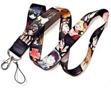 BLACK BUTLER LANYARD Sebastian Ciel anime manga ID neck strap badge clip keys 5Z