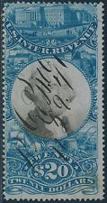 #R129 $20 DOCUMENTARY STAMP 2ND ISSUE USED F-VF CV $1,200 BS4482