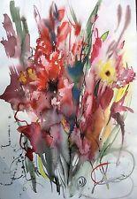 SALE Original watercolor painting by KATALINA. FLOWERS stillife #23