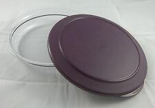 Tupperware kleine flache Tafelperle Schüssel 1,3 l Klar / Lila Violett Neu OVP