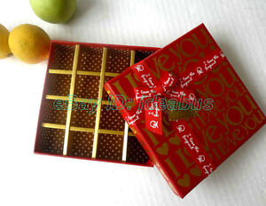 1/2/4/8PCS square Wedding Favor Gift Box 16 CELLS for chocolates/sweets/candies