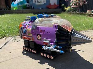 Vintage Teenage Mutant Ninja Turtles Transport Module Drill Vehicle TMNT Foot