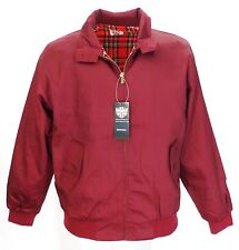 Warrior Classic Burgundy Harrington Jacket Small to 4Xlarge