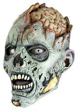 Battle Merchant Zombie Maske Grau Fasching Halloween Monster LARP Gummimaske