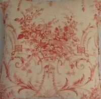 A 16 Inch Cushion Cover In Laura Ashley Tuileries Burnt Sienna Fabric