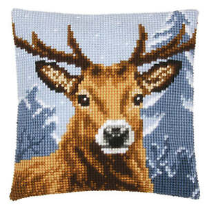 The Stags Head Cross Stitch Cushion Front Kit 40 x 40 cm