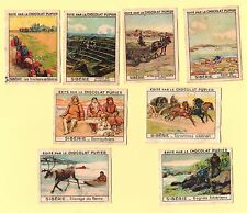 8 IMAGES CHROMO  RUSSIE SIBÉRIE CHOCOLAT PUPIER  OLD TRADE CARDS