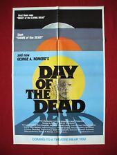 DAY OF THE DEAD *1985 ORIGINAL MOVIE POSTER RARE ADVANCE GEORGE ROMERO HALLOWEEN