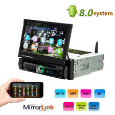 "1DIN Android 8.0 Car Radio CD DVD GPS Navi Stereo Bluetooth 7"" Touch MP5 Player"