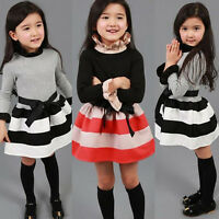 Toddler Baby Girls Kids Casual Party Princess Dress Autumn Winter Skater Clothes