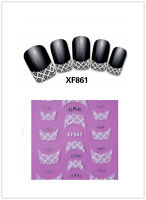 3D Nail Art Lace Stickers Decals Transfers DIY Lace Design Nail Art Decorations