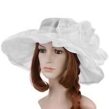New Church Kentucky Derby Hat Large Wide Brim Wedding Tea Party Women US