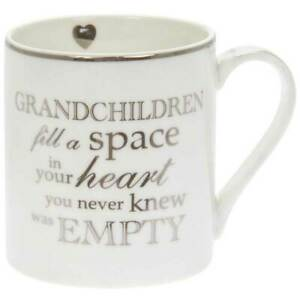 Grandchildren Fill. Space In Your Heart you Never Knew Was Empty- Fine China Mug