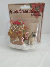 Akita Fawn Dog Ginger Bread House Christmas Ornament