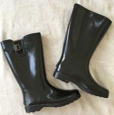Sierrawest Womens Rubber Rain Boots Black Tall Waterproof Size 10